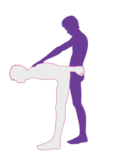 diagram of standing rear penetration sex position
