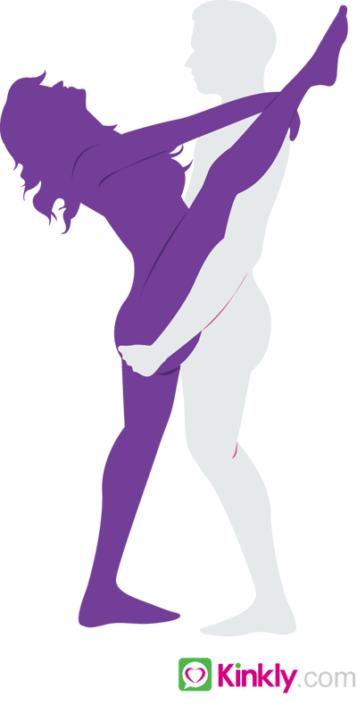 diagram of the lustful leg sex position