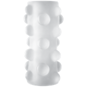 Doc Johnson OPTIMALE - Reversible UR3 Stroker - Rollerball - Clear - A dual-textured male masturbator with massage beads
