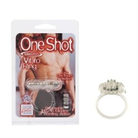 California Exotic One Shot Wireless Vibro Ring - Erection enhancement ring with vibrator attachment.