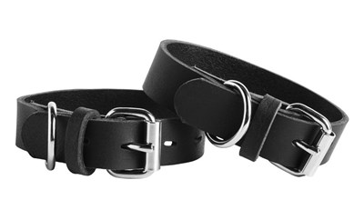 Liberator Fillie Leather Ankle Cuffs - A pair of deluxe ankle cuffs designed for a comfortable but firm restraint.