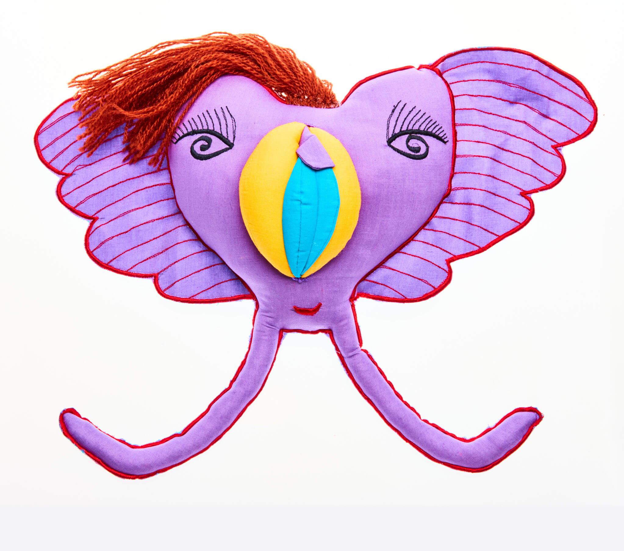 My Little Yoni vulva doll in purple