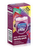 Durex Play Vibrations Variety Pack - A variety pack that boasts an assortment of stimulating products, perfect for a night of sensual fun.