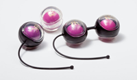 Bedroom Kandi Hold On To Me - A sleek set of Kegel balls with a system of graduated weights.