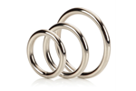 California Exotic Silver Ring 3 Piece Set - Metal adornment rings.
