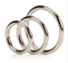 California Exotic Silver Ring 3 Piece Set - Metal adornment rings.
