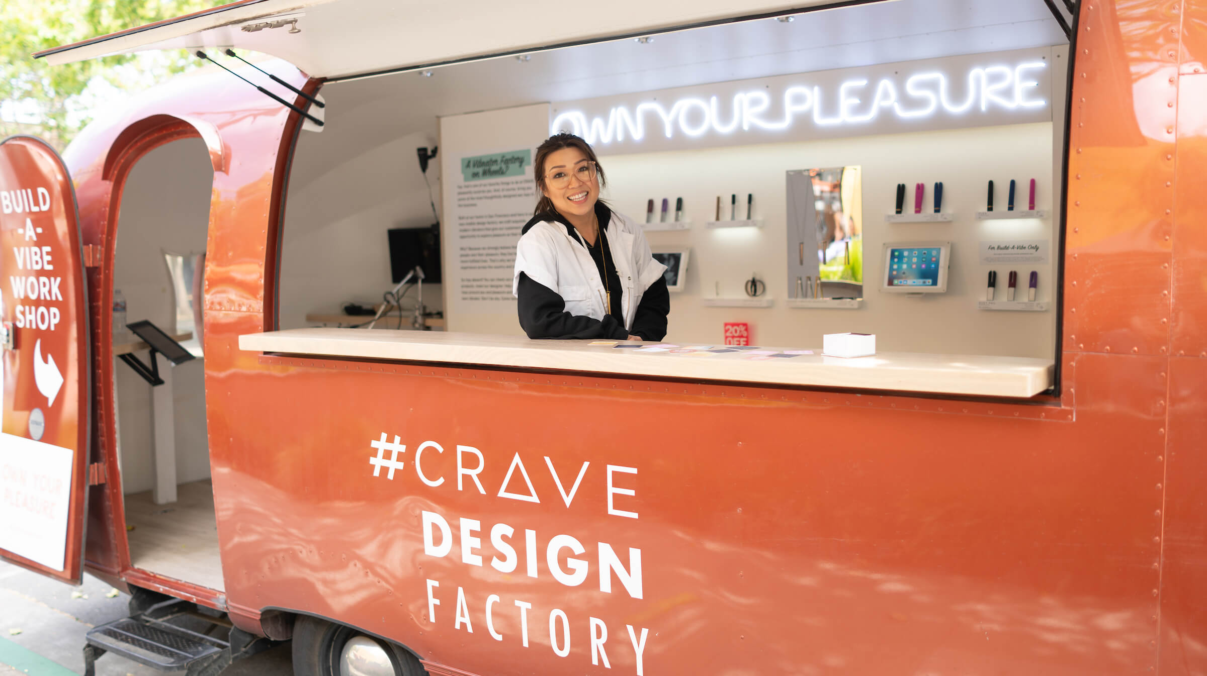 Ti Chang of Crave in the Build a Vibe Airstream