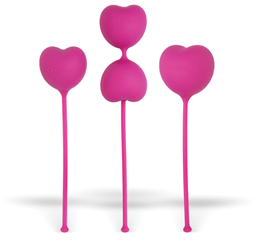 OhMiBod Lovelife Flex Kegel Weights - A pleasurably shaped, weighted toy to strengthen your pelvic muscles.