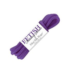 Pipedream Products Fetish Fantasy Series Mini Silk Rope - Purple - A silk rope designed for BDSM play