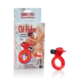 California Exotic Clit Flicker With Wireless Stimulator - Vibrating erection enhancement ring.
