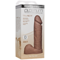 "Doc Johnson Platinum The Tru Ride 8 inch - Caramel - This 8"" realistic dildo has a firm silicone core."