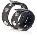 California Exotic COLT Leather Cock and Ball Domed Strap - Erection enhancement ring.