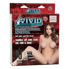 California Exotics Vivid Raw Reverse Cowgirl Love Doll - A sexy love doll with 3 openings