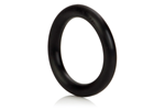 California Exotic Rubber Ring Black Large - Rubber adornment ring.