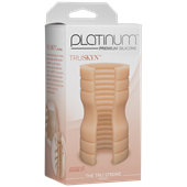 Doc Johnson Platinum The Tru Stroke Ribbed - Vanilla - A completely flexible masturbation sleeve that allows you to hold it loose or squeeze it tight.