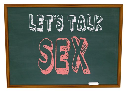 Lets talk sex on a chalkboard