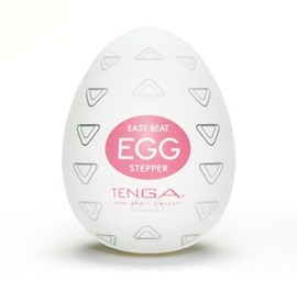TENGA EGG STEPPER - A soft, pliable male pleasure sleeve that is uniquely packaged in an egg.