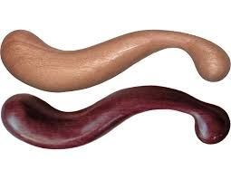 NobEssence Seduction - A sleek, S-shaped wooden dildo.