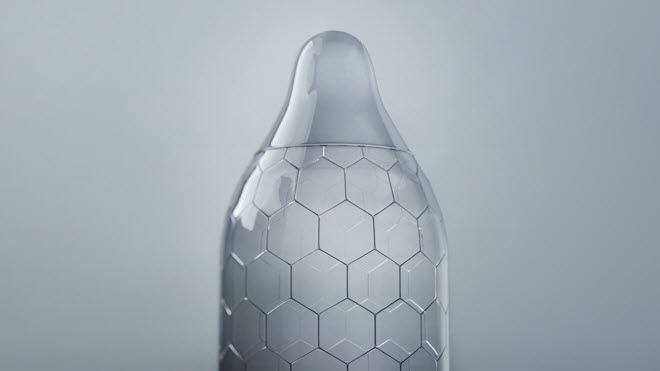 Condoms clear plastic