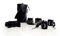 Liberator Tensionier - Cuff and Blindfold Kit in Microfiber - A pair of self-tightening cuff sets for some intense bondage play