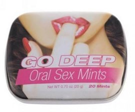Topco Sales Go Deep Oral Sex Mints Ts1483215e - A handy tin of mints for oral sex
