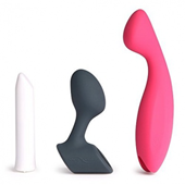We-Vibe Tango Pleasure Mate Collection - A G-spot vibe and vibrating butt plug collection, both powered by We-Vibe's famously powerful Tango.