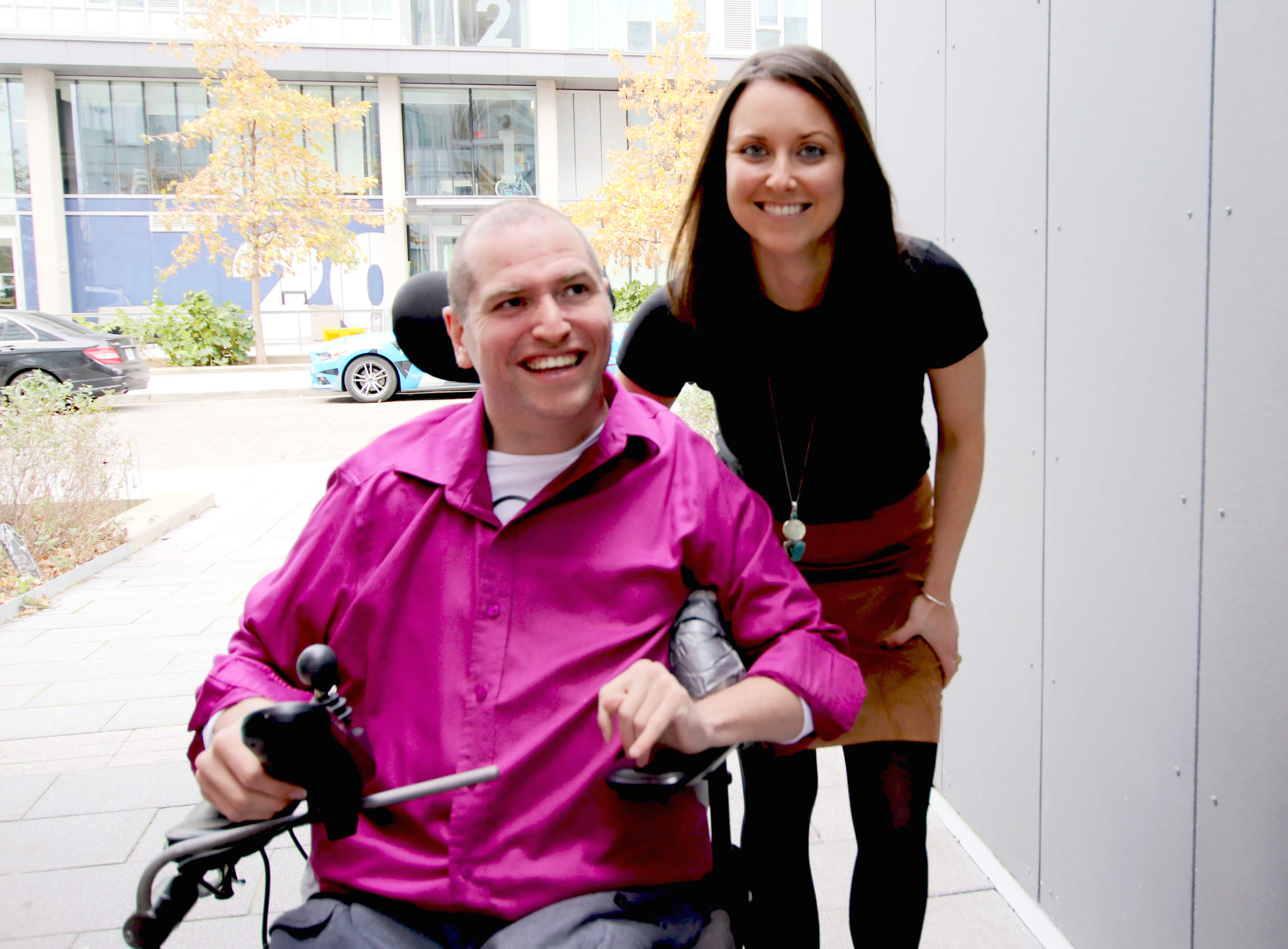 Andrew Gurza and Heather Morrison co-founders of Handi