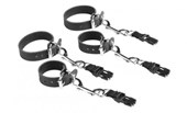 Liberator Latigo Leather Wrist & Ankle Cuff Kit for Black Label - A handmade set of wrist and ankle cuffs crafted for Bondage Play