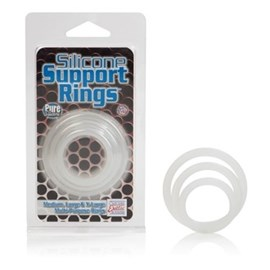 California Exotic Silicone Support Rings - Set of 3 silicone erection enhancement rings.