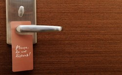 Hotel do not disturb sign