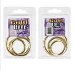 California Exotic Gold Ring 3 Piece Set - Metal adornment rings.