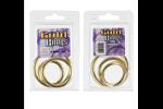 California Exotic Gold Ring 3 Piece Set - Metal adornment rings.
