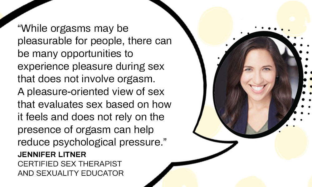 Jennifer Litner quote about sexual pleasures other than orgasms