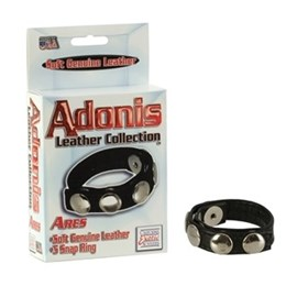 California Exotic Adonis Leather Collection Ares - Adjustable erection enhancement ring.