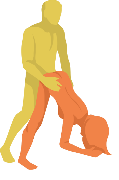 Eiffel Tower Sex Position. Penetrating partner is standing. Receiving partner is bend in front of him.
