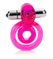 California Exotic Dual Clit Flicker - Vibrating erection enhancement ring