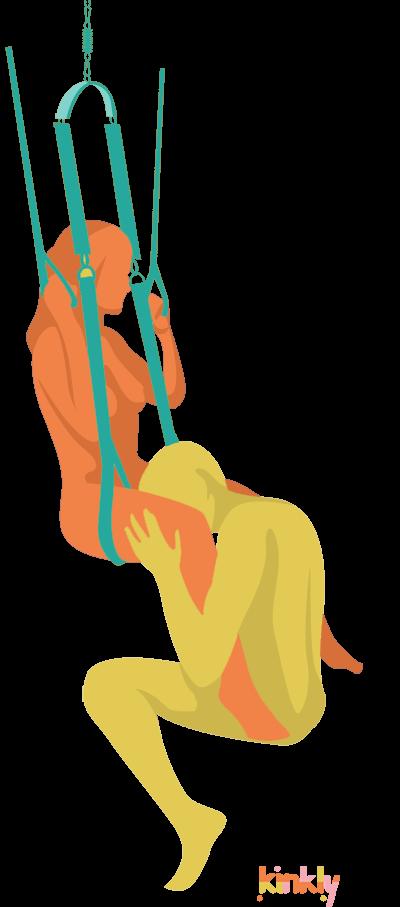 oral sex in sex swing or sex sling