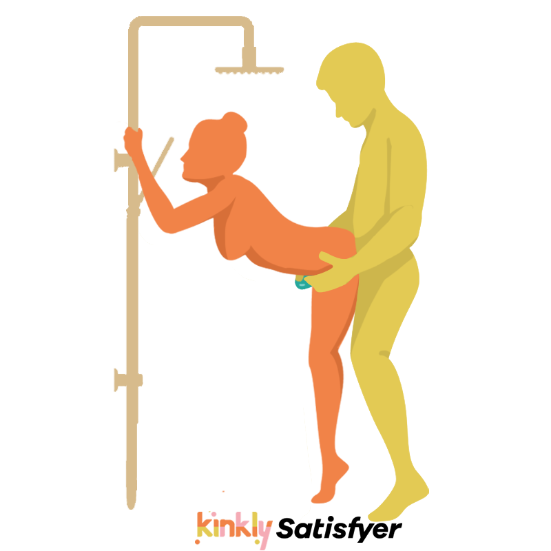 Soaking Wet Doggy Shower Sex Position. Rear entry sex position in the shower.