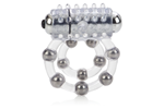 California Exotic Waterproof Maximus Enhancement Ring - 10 Stroker Beads - Erection enhancement ring.