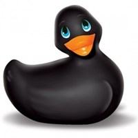 Big Teaze Toys I Rub My Duckie Classic 3-Speed Black - An adorable, waterproof duckie with three exciting speeds.