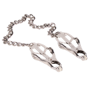 Doc Johnson NIPPLE CLAMPS - METAL - CLOVER - A fully adjustable pair of nipple clamps with a clover design