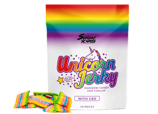 Sunday Scaries Unicorn Jerky Candy