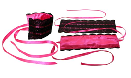 Sportsheets Satin and Lace Lover Kit Pink - An beautifully elegant restraint kit.