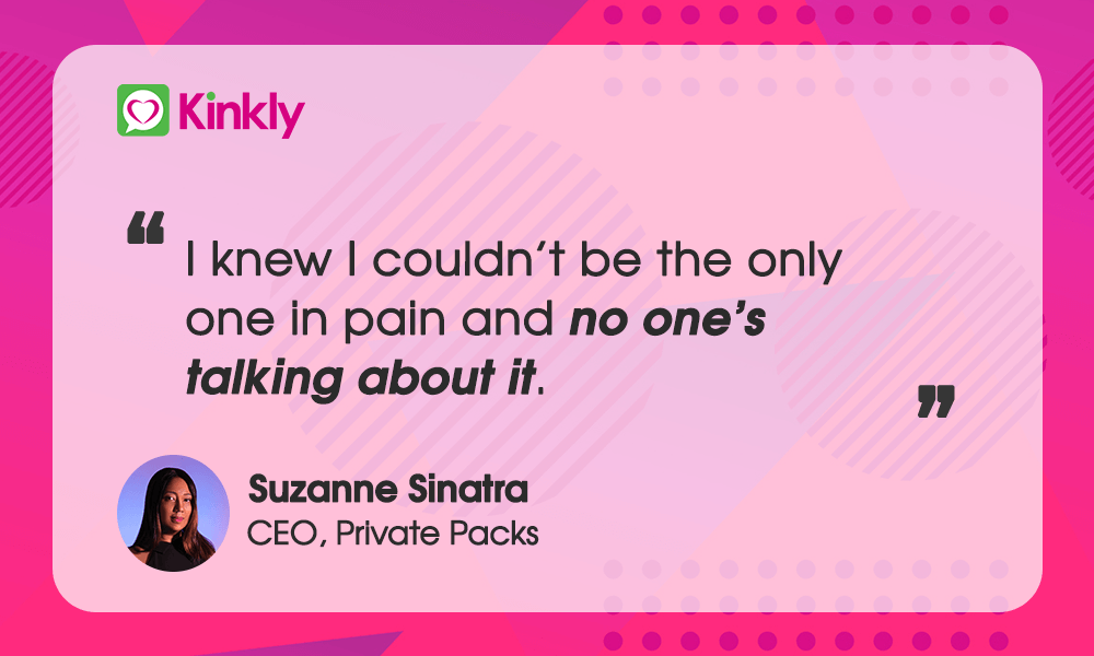 Suzanne Sinatra CEO Private Packs Quote