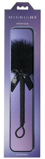 Sportsheets Midnight Feather Tickler - A long, sensual tickler with super-soft feathers designed for teasing.