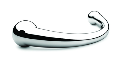 nJoy Pure Wand - A beautifully crafted stainless steel double dildo.