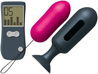 Marc Dorcel Secret Genius Vibe Remote Control Butt Plug - A small, remote-controlled vibrating anal plug.