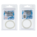 California Exotic Rubber Ring White Large - Rubber adornment rings.