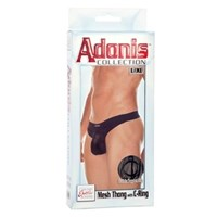 California Exotic Adonis Mesh Thong with C-Ring - L/XL - Mens sensual attire.