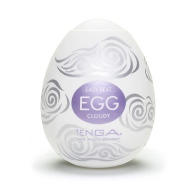 TENGA EGG CLOUDY - A soft, pliable male pleasure sleeve that is uniquely packaged in an egg.